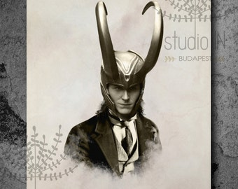 Loki print, Vintage style print, Victorian style print,
