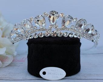 Swarovski Tiara, QuinceaneraTiara, Crystal Tiara ,Wedding Tiara ,Crown , Princess Tiara, Quinceanera, Crystal Headpiece, Corona, XV Tiara