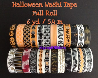 Halloween Washi Tape, Many Designs, Your Choice of 1 Roll, 6 yd/ 5.4m, Planner Decorations, Scrapbooking, Cardmaking, Recollections