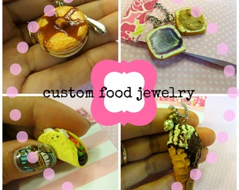 food jewelry commission