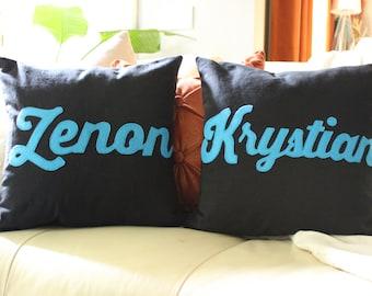 Custom Names Throw Pillow