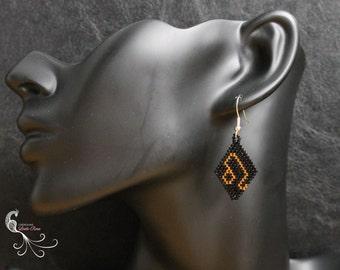 Zodiac leo women earrings, women earrings, zodiac earrings, leo earrings, zodiac leo sign, beaded earrings