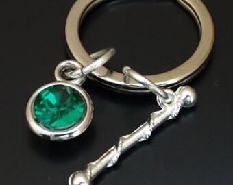 Majorette Keychain, Custom Keychain, Custom Key Ring, Majorette Pendant, Majorette Charm, Majorette Jewelry, Baton Twirling, Baton Keychain