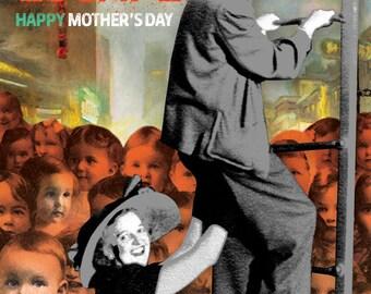 Funny Mother's Day Card Happy Retro Moms Escape