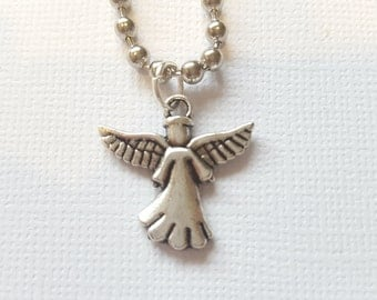 Angel charm necklace - gift