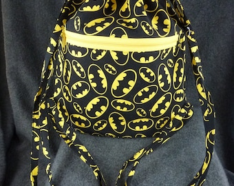 Batman Fabric Drawstring Backpack!