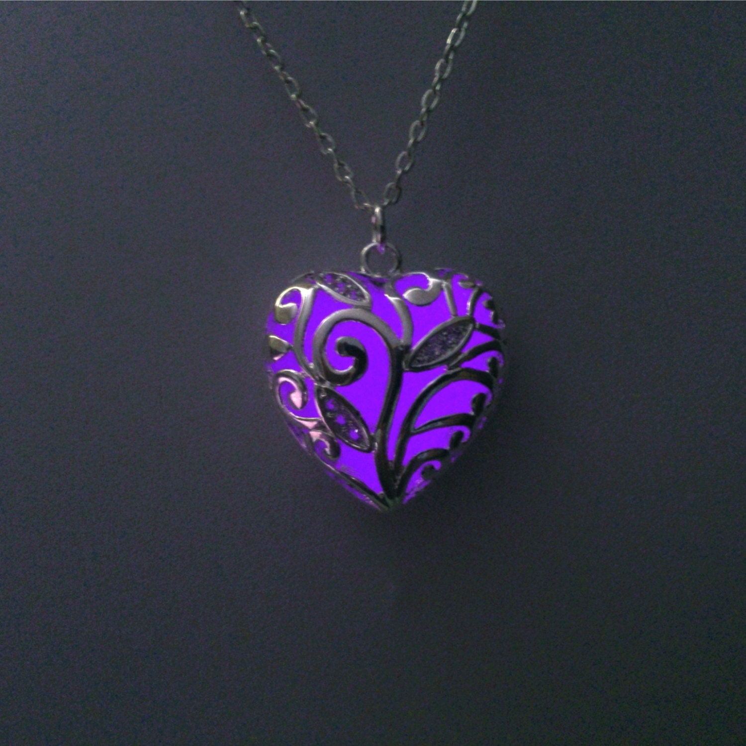 Girlfriend Gift Womens Gift Purple Glowing Heart