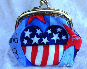 Red, White & Blue Coin Purse Small