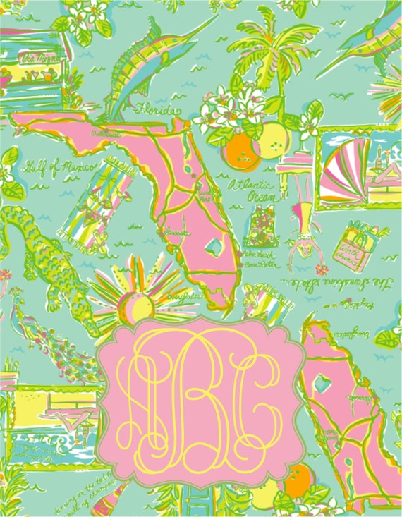 Silly for Lilly #22 Personalized Notebook:  Florida