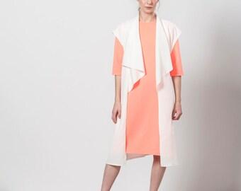 Womens Vest, White Sleeveless Vest, sleeveless cardigan, Long Vest, White Vest, Summer Vest, White Maxi Vest