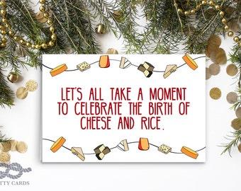 Funny Christmas Card, Christmas Card, Funny Holiday Card, Greeting Card, Blank Christmas Card, Funny Card, Funny Cards, Funny Christmas