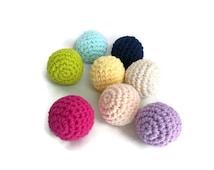 10 Small Crochet Balls - Any Colour; Nursery or Wedding Decor, Plush Crochet Stuffed Balls, Kids Children Toys, Home decor, Pets Chew Toys