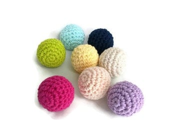 Small Stuffed Balls, Crochet Balls, Amigurumi Balls, Plush Balls, Soft Balls, Home or Wedding Decor, Play Toys, Toy Balls, Pets Chew Toy