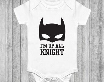 12-18 months Batman funny babygrow onesie