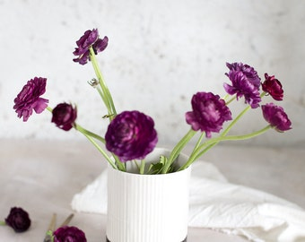Ceramic Vase, Flower Vase, Pottery Vase, Black and White vase, Ceramic Flower Pot, Modern Vase Flower, Christmas Gift