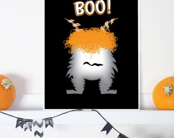 Halloween printable decorations, Halloween boo print, Printable halloween decor, halloween party decoration, halloween decor, halloween sign