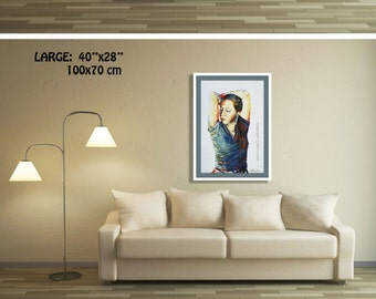 Wall Art Canvas, Wall Picture, Wall Art Print, Figure Art, Bedroom Wall Art, Figurative Art, Bedroom Artwork Canvas Wall Art Portrait Print