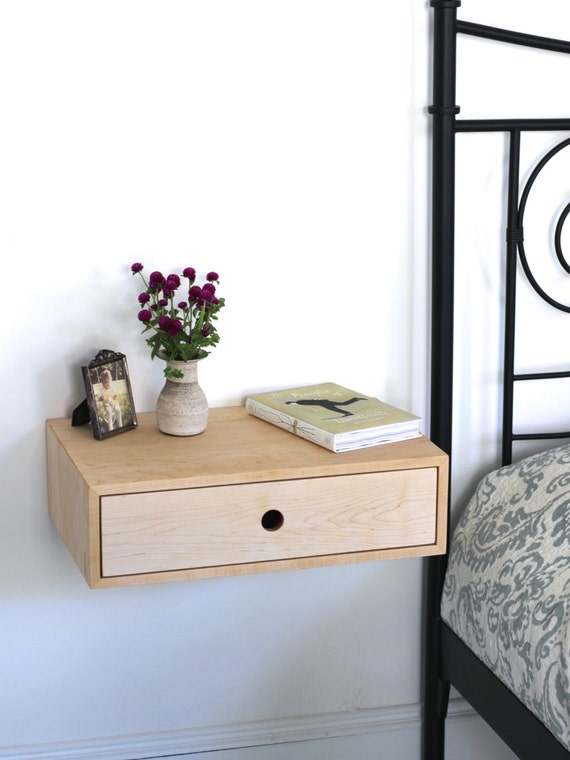 Floating Modern Nightstand With Drawer Mid Century Modern
