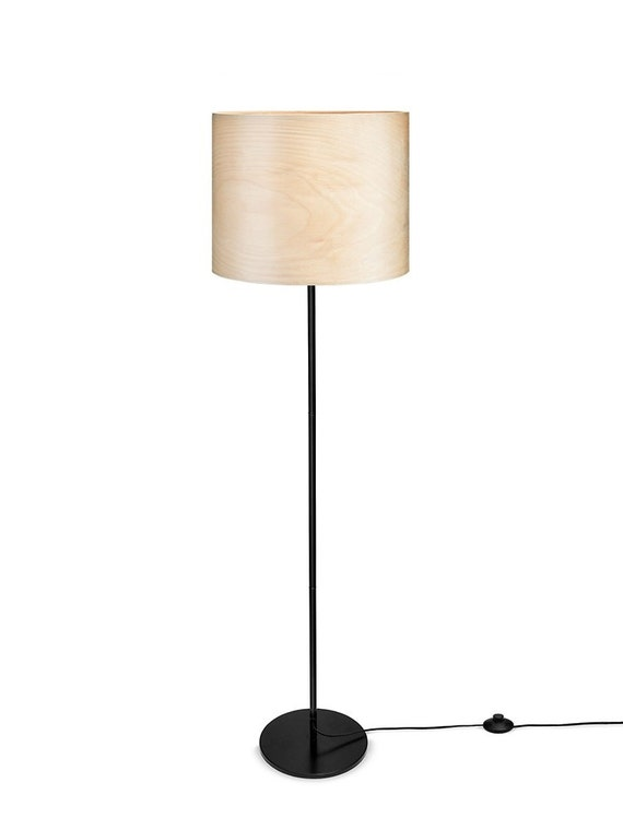Floor Lamp Veneer Natural Wood Veneer Finnish Birch Tree