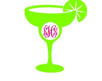 Margarita - Margarita Decal - Monogrammed Margarita Decal