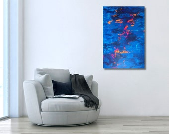 ORIGINAL Abstract Painting, Original Art, Acrylic, Colorful, Blue Abstract Painting, Affordable Art Home Decor Living Room Art, Modern Art