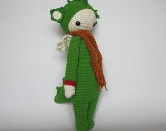 Handmade Crochet Dirk the Dragon - Lalylala Pattern, Dragon Plush Toy, Dragon Stuffed Toy, baby shower gift, baby nursery decor