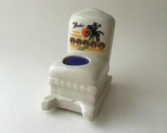 Vintage Florida rocking chair pincushion, souvenir pincushion, Florida souvenir, rocking chair pincushion, retro pincushion, retro souvenir