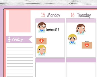 Choice Itty Bitty Or ECLP Doctors To Use With Erin Condren Planner