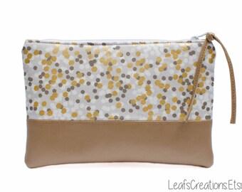Makeup bag Makeup case Cosmetic case Cosmetic bag Pencil case Zipper pouch Bridesmaid gift Clutch Michael Miller fabric