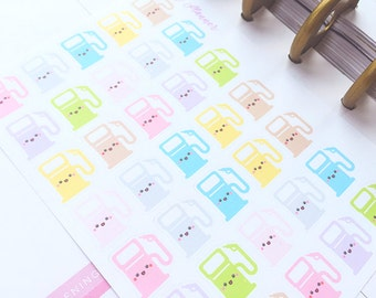 Gas Planner Stickers, Kawaii Gas Stickers, MAMBI Kawaii Stickers, Pastel EC Gas Stickers, Happy Planner Stickers, Car Planner Stickers