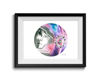 Interstellar Anne Hathaway Art Print