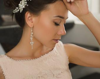 Bridal hair comb. Wedding hair comb. Pearl hair comb Wedding headpiece Hair accessories. Bridal Hair piece Wedding comb Wedding Head piecewe