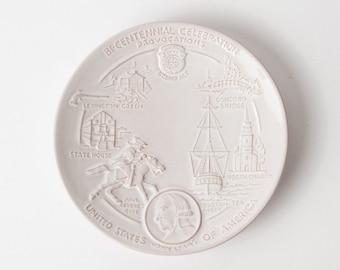 SOLD ** Vintage Frankoma Bi-Centennial Plate