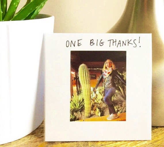 Thank you card funny, Big Thanks, Funny card, Blank Card, Thank You Card, Funny Thank You Card, Thank You Note, sidesandwich, cactus, thanks