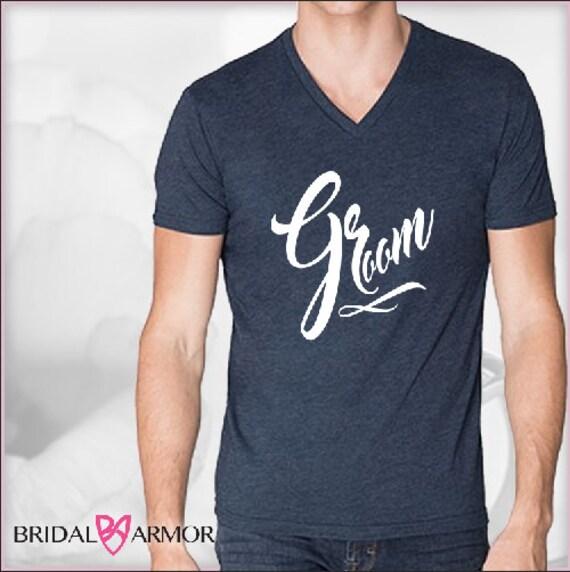 Groom shirt wedding day shirts for bridal party by bridalarmor for Bridal shower t shirt sayings