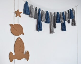 Space Theme Cork, Tassel, Banner-Garland