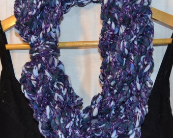 The Bridget Scarf: infinity.circle.necklace.cowl.long.extra long.warm.soft.chunky.yarn.handmade.