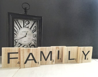 Family Scrabble Tiles - Scrabble Wall Art - Family Wall Decor - Scrabble  Tiles - Family Tiles - Family Room Decor - Wall Decor - Wall Art
