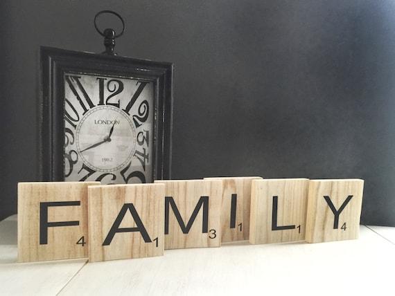 Tiles For Wall Decor : Family scrabble tiles wall art decor