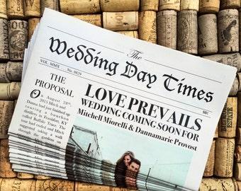 Vintage Newspaper Wedding Invitation