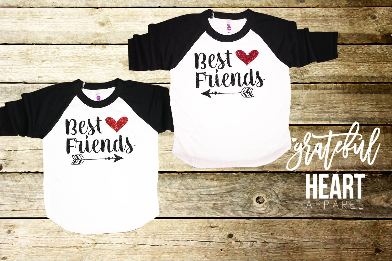 best friends shirts matching mommy and me bff shirts bff. Black Bedroom Furniture Sets. Home Design Ideas
