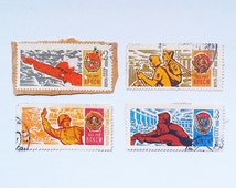 Stamps 50 years of the Komsomol, Soviet postage stamps, Vintage postage stamps, Soviet Order, Postage stamps USSR, Collectible stamps
