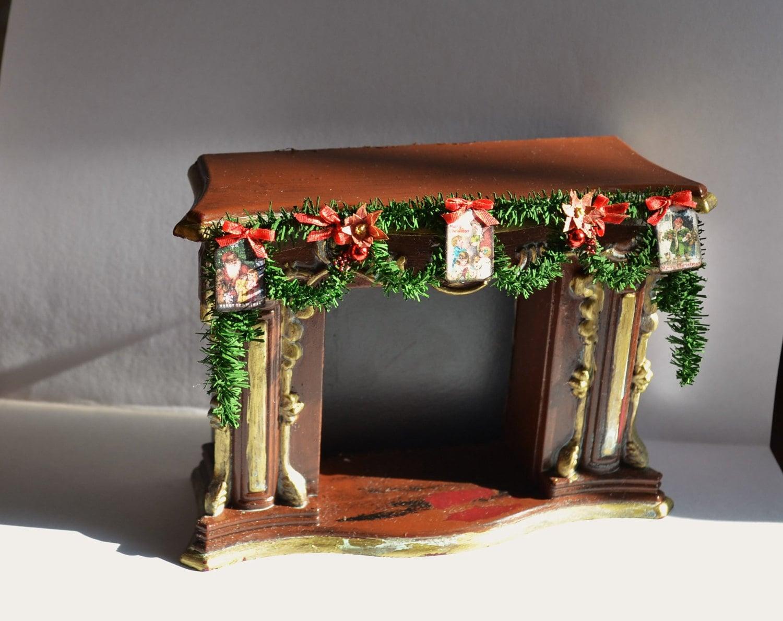 Dollhouse Miniature Christmas Tree Garland For Fireplace
