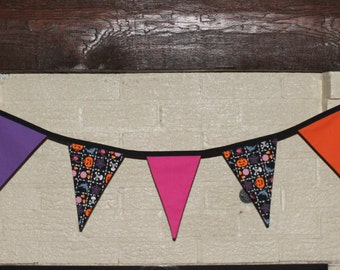 Halloween bunting, fabric garland