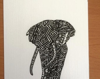 Savannah [ Africa ] Archival quality print based on the original ink drawing