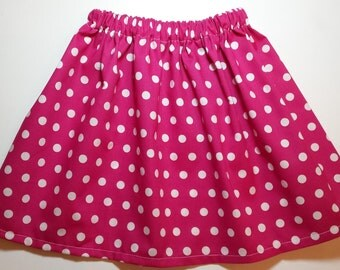Boutique Flamingo Pink Polka Dot Twirl Skirt