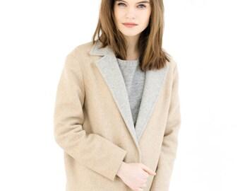 Camel coat, spring coat, woman coat