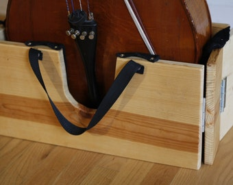 Hand-made, portable 'cello stand
