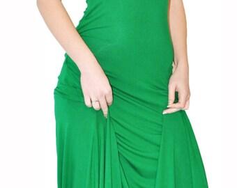 Fitted summer viscose dress/ Maxi dress/Long dress