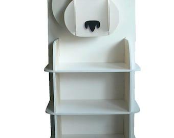 Original polar bear bookcase by Mirabelledesign1, kids' storage, kids' bedroom, kids shelving unit, nursery decor, wooden bookcase, handmade